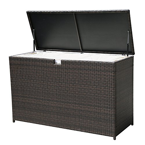 PATIOROMA-Outdoor-Storage-Box-Patio-Aluminum-Frame-Wicker-Cushion-Storage-Bin-Deck-Box-Espresso-Brown-0