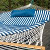 PG-PRIME-GARDEN-12FT-4-Piece-Heritage-Hammock-Essential-Package-Accommodate-1-Person-100-Cotton-Rope-Polyester-Pad-and-Pillow-ComboGreen-Coated-Steel-FrameRust-Resistant-Weight-Limit-275-lb-0-1