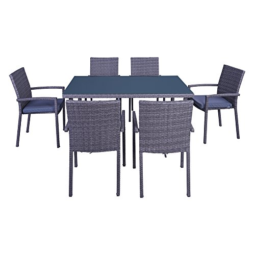 Palm-Springs-7-Piece-Outdoor-Wicker-Style-Dining-Set-Table-with-6-Chairs-and-Cushions-0-0