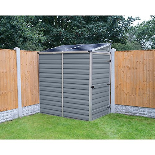 Palram-SkyLight-Lean-To-Storage-Shed-4-x-6-ft-0