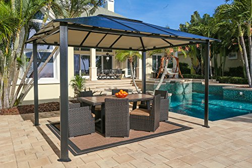 Paragon-Outdoor-GZ3584-Backyard-Structure-Hardtop-Durham-Gazebo-10-x-13-Black-0
