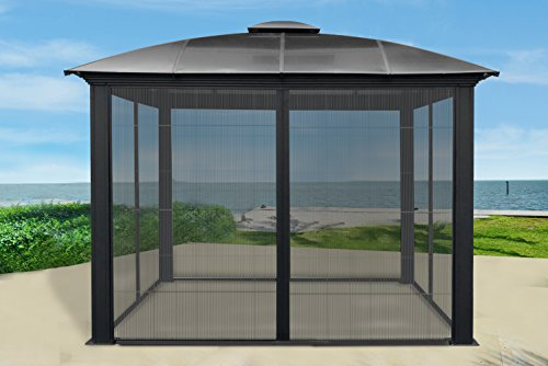 Paragon-Outdoor-GZ3DS-12-x-12-ft-Siena-Hard-Top-Dome-Gazebo-with-Sliding-Screen-0-0