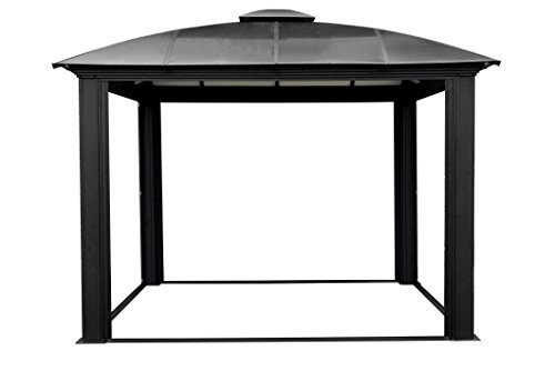 Paragon-Outdoor-GZ3DS-12-x-12-ft-Siena-Hard-Top-Dome-Gazebo-with-Sliding-Screen-0-1
