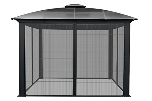 Paragon-Outdoor-GZ3DS-12-x-12-ft-Siena-Hard-Top-Dome-Gazebo-with-Sliding-Screen-0