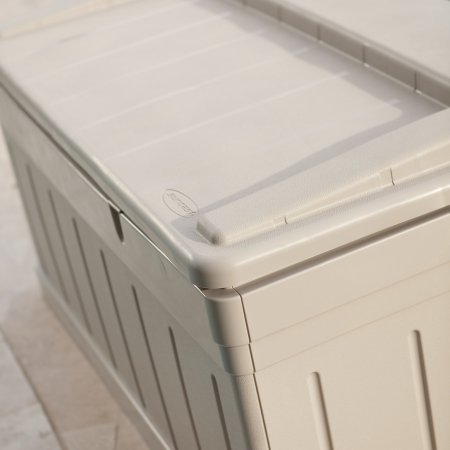Patio-Storage-Deck-Box-with-129-Gallon-Capacity-Removable-Storage-Tray-Bench-White-Color-Made-of-Plastic-Ideal-for-Pool-Garden-Yard-Sitting-Area-Outdoor-Furniture-BONUS-E-book-0-0