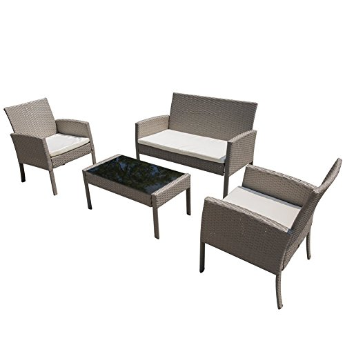 PatioPost-Patio-Furniture-Sets-Garden-Lawn-Outdoor-4-Pcs-PE-Wicker-Rattan-Modern-Sofa-Set-Cushioned-Seats-0