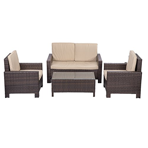 PayLessHere-4pc-PE-Rattan-Wicker-Sofa-Set-Cushion-Outdoor-Patio-Sofa-Couch-Furniture-0