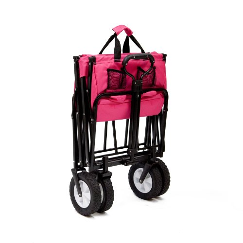 Pink-Mac-Sports-Collapsible-Folding-Utility-Wagon-Garden-Cart-Shopping-Beach-0-1