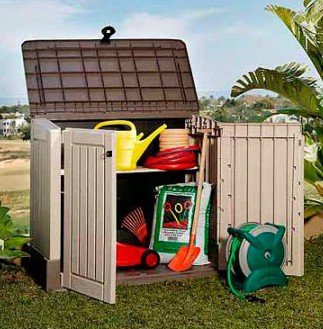 Plastic-Outdoor-Storage-Shed-30-CuFt-Color-BeigeTaupe-0-0