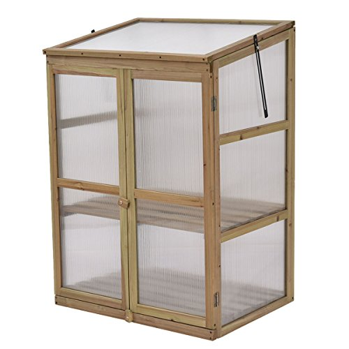 Portable-Double-Locking-Solid-Wooden-Garden-Greenhouse-Plants-Shelves-Protection-w-2-Doors-0-0