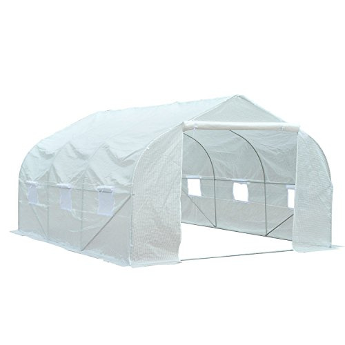 Portable-Greenhouse-11-x-10-x-7-Walk-In-Flowers-Plant-Outdoor-Garden-White-With-Ebook-0