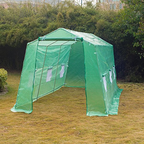 Portable-Greenhouse-15-x-7-x-7-Walk-In-Flowers-Plant-Outdoor-Garden-Green-With-Ebook-0-0