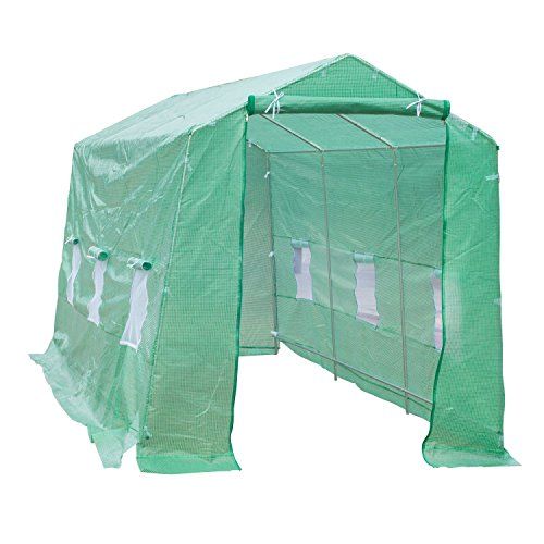 Portable-Greenhouse-15-x-7-x-7-Walk-In-Flowers-Plant-Outdoor-Garden-Green-With-Ebook-0