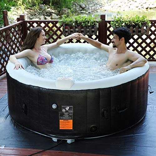 Portable-Inflatable-Bubble-Massage-Spa-Hot-Tub-4-Person-Relaxing-Outdoor-White-0-0