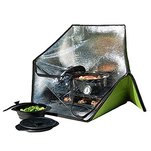 Portable-Solar-Oven-Deluxe-with-Complete-Cookware-Dehydrating-Racks-and-Thermometer-0