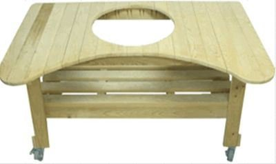 Primo-Ceramic-Grills-Oval-LG-300-Cypress-Counter-Top-Table-0
