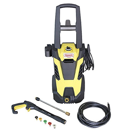 Realm-BY02-BCMH-Electric-Pressure-Washer-2300-PSI-175-GPM-145-Amp-with-Spray-Gun5-Spray-TipsBuilt-in-Soap-DispenserYellow-Black-0-0