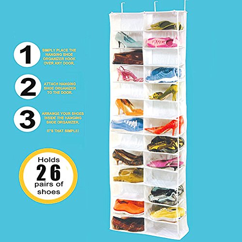 RedSonicsTM-26-Pockets-Hanging-Storage-Bags-Door-Foldable-Wardrobe-Hanging-Bags-Save-Space-Organizer-Shoes-Underpants-Storage-Bag-0-1