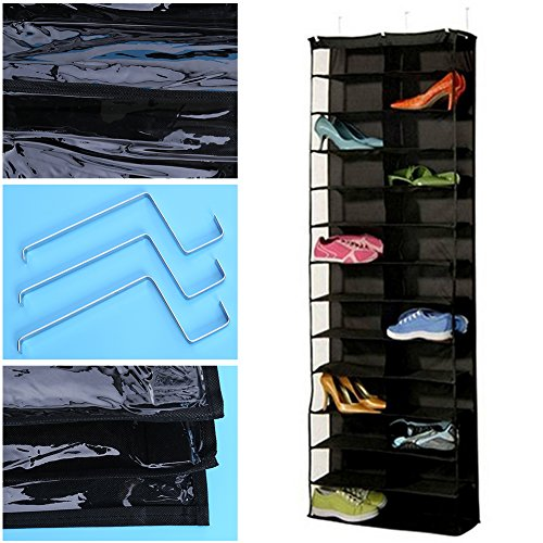 RedSonicsTM-26-Pockets-Hanging-Storage-Bags-Door-Foldable-Wardrobe-Hanging-Bags-Save-Space-Organizer-Shoes-Underpants-Storage-Bag-0