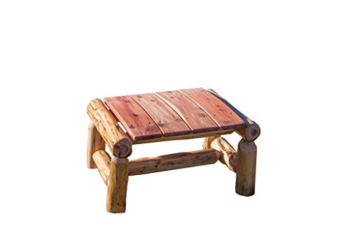 Rustic-Outdoor-Red-Cedar-Log-Ottoman-Foot-Stool-Amish-Made-in-the-USA-0
