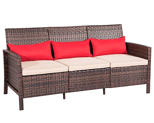 Suncrown Outdoor Furniture Patio Set All Weather Wicker