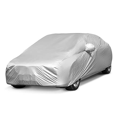 SaveStore-Practical-Durable-Full-Car-Cover-Built-in-Hooks-Ultraviolet-Radiation-Rain-Snow-Dust-Made-Premium-Polyester-Fabric-0