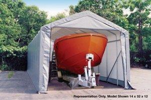 ShelterLogic-15x28x12-Peak-Style-Shelter-Gray-0