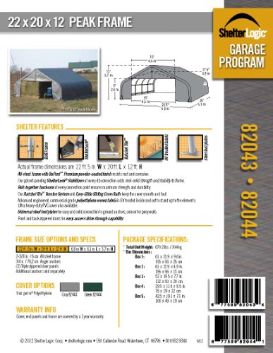 ShelterLogic-82044-Green-22x20x12-Peak-Style-Shelter-0-0
