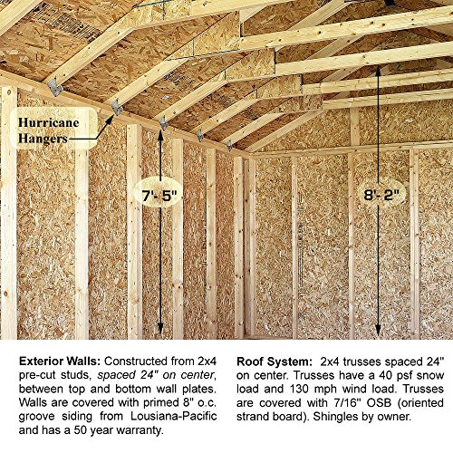 Sierra-12-ft-x-16-ft-Wood-Garage-Kit-without-Floor-0-0