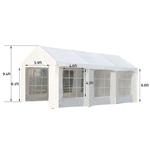 Snail-10-X-10-ft-Waterproof-Pop-Up-Canopy-Commercial-Aluminum-Outdoor-Instant-Shelter-with-4-Removable-Sidewalls-Wheeled-Bag-White-0-1