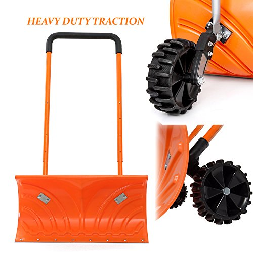 Snow-Plow-Shovel-Pusher-with-Wheels–Snow-Removal-Tools-for-Driveway-as-a-Heavy-Duty-Wheeled-Rolling-Snow-Pusher-to-Clear-the-Snow-on-Driveway-Sidewalk-or-Slippery-Roads-Effortlessly-0-2