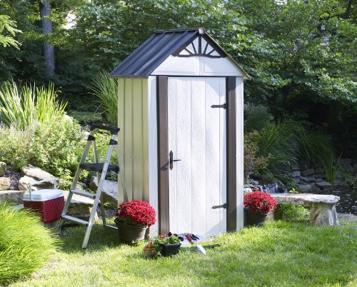 Storboss-SBDSM42-Designer-Series-HDG-Steel-Storage-Shed-4-by-2-Feet-0-1
