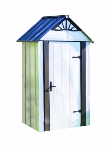 Storboss-SBDSM42-Designer-Series-HDG-Steel-Storage-Shed-4-by-2-Feet-0