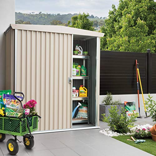 Stratco-Storage-Shed-73-ft-x-74-ft-x-62-ft-LARGE-Utility-Garden-Shed-Pre-Painted-Steel-With-Sliding-Door-Easy-To-Assemble-0-0