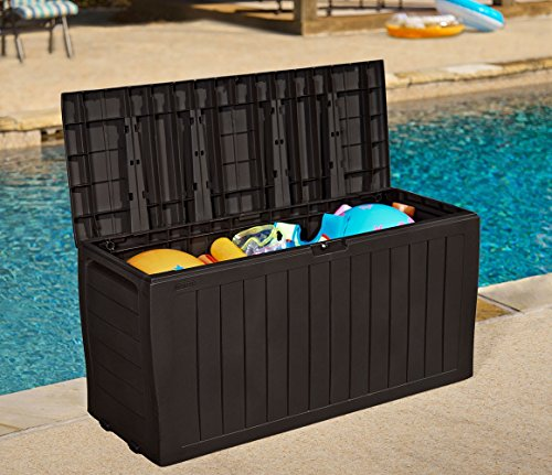 Stylish-Outdoor-Storage-Deck-Box-Durable-Polypropylene-Construction-For-Both-Interior-And-Exterior-Use-Keeps-Items-Dry-And-Well-Ventilated-Appealing-Decorative-Paneled-Design-Easy-To-Move-0-2
