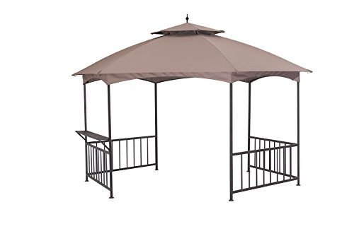 Sunjoy-114X-132-Madison-Pavilion-Hex-Shape-Soft-Top-Gazebo-with-Serving-Shelf-0-1
