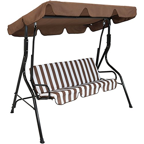 Sunnydaze-Adjustable-Canopy-Patio-Swing-with-Striped-Seat-Cushion-and-Steel-Frame-3-Person-Seater-Multiple-Colors-Available-0-0