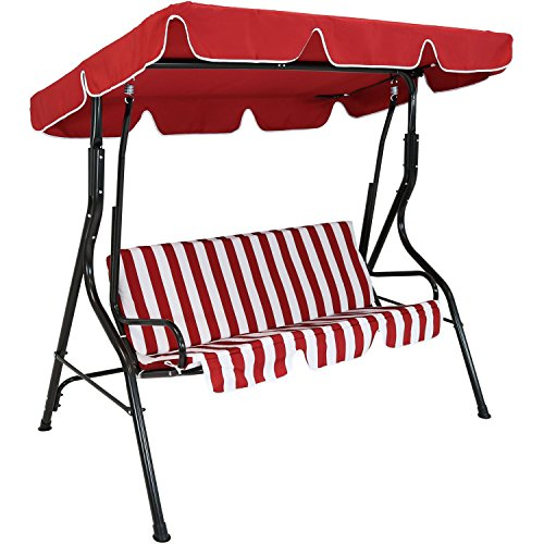 Sunnydaze-Adjustable-Canopy-Patio-Swing-with-Striped-Seat-Cushion-and-Steel-Frame-3-Person-Seater-Multiple-Colors-Available-0-2