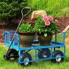 Sunnydaze-Utility-Steel-Garden-Cart-Outdoor-Lawn-Wagon-with-Removable-Sides-Heavy-Duty-400-Pound-Capacity-Blue-0-0