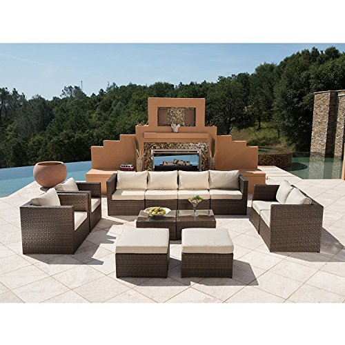 Supernova-Outdoor-Furniture-12-Pieces-Garden-Patio-Sofa-Set-Wicker-Rattan-Sectional-Sofa-No-Assembly-Required-Aluminum-Frame-Brown-0-0
