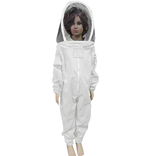 TINTON-LIFE-Kids-Beekeeping-Suits-Full-Body-Ventilated-100-Cotton-Children-Bee-Suits-with-Self-Supporting-Fencing-Veil-Protective-Gear-for-Beekeeper-0
