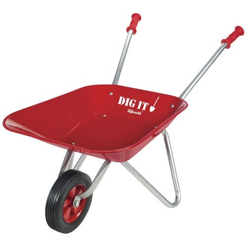 Toysmith-Kid-Sized-Little-Red-Wheelbarrow-Outdoor-Home-Garden-Supply-Maintenance-0