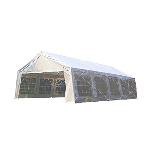 UNIONLINE-197W-x-328D-Heavy-Duty-Outdoor-Wedding-Carport-Canopy-Party-Tent-White-with-Sidewalls-0