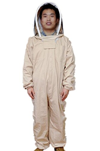 Univegrow-Professional-Beekeeper-Jumpsuit-Suit-Beekeeping-Suit-with-Self-Supporting-Veil-for-Bee-Keepers-0
