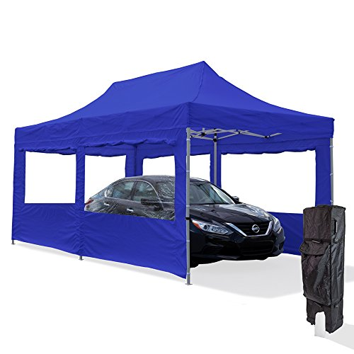 Vispronet-10×20-Aluminum-Carport-Canopy-Tent-with-2-10×20-Window-Walls-1-10×10-Window-Wall-Roller-Bag-and-Stake-Kit-0