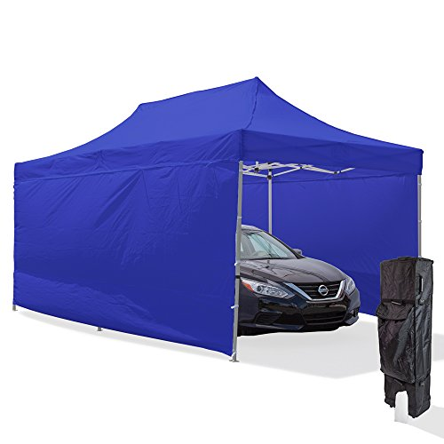 Vispronet-10×20-Steel-Carport-Canopy-Tent-with-2-10×20-Full-Walls-1-10×10-Full-Wall-Roller-Bag-and-Stake-Kit-0