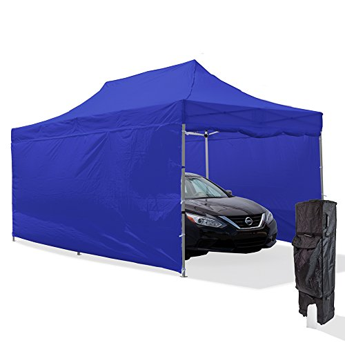Vispronet-10×20-Steel-Carport-Canopy-Tent-with-2-10×20-Full-Walls-2-10×10-Full-Walls-Roller-Bag-and-Stake-Kit-0