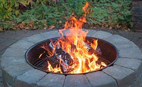 Walden-Fire-Ring-Round-30-Diameter-Premium-Heavy-Duty-Steel-Fire-Ring-Fire-Pit-Insert-Outdoor-Fire-Pits-Above-Ground-Fire-Pit-0-0
