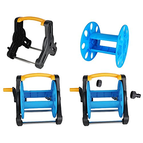 Wall-Mount-Portable-Rotating-Water-Hose-Reel-Cart-with-Bracket-Holder-by-MUITOBOM-0-0