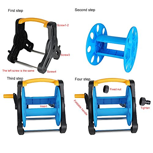 Wall-Mount-Portable-Rotating-Water-Hose-Reel-Cart-with-Bracket-Holder-by-MUITOBOM-0-1